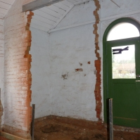 The 'cloak room' wall removed