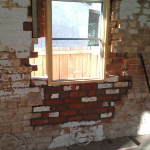 Window 2 - brickwork nearly finished