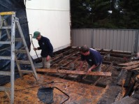 Noah and Brant remove the floor